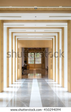 interior Corridor use for Modern architecture background - stock photo