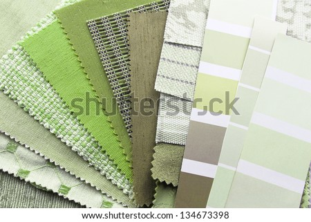 interior decoration and renovation planning - stock photo
