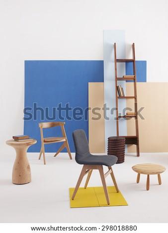interior decoration style - stock photo