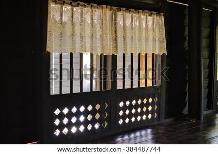interior decoration traditional Malay house - stock photo