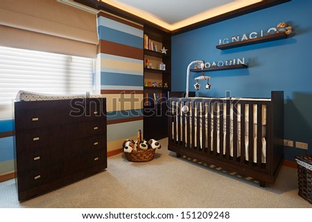 Interior design: Baby room - stock photo