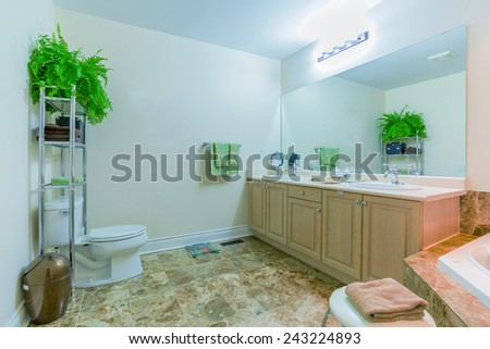 Interior design bathroom  in new house
