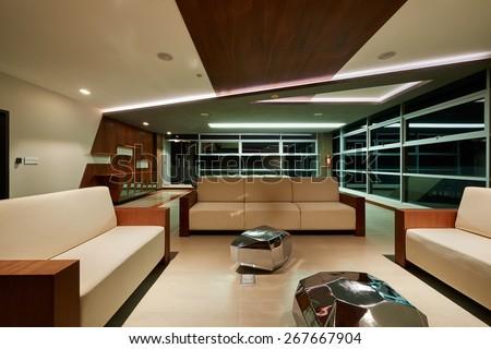 Interior Design: Big empty modern office - stock photo