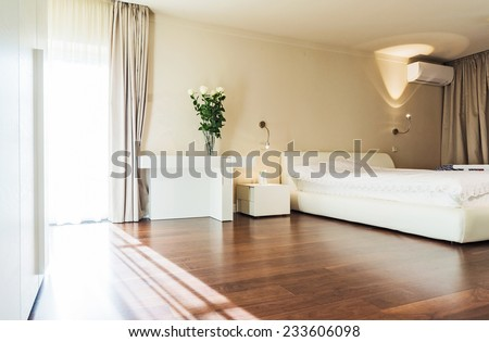 Interior design: Big modern Bedroom  - stock photo
