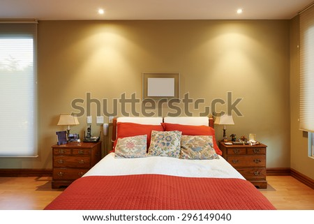 Interior design: Classic Bedroom - stock photo