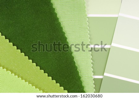 interior design color choice - stock photo