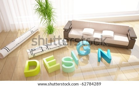 interior design composition - stock photo