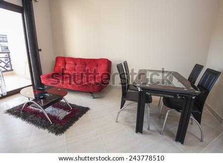 Interior design decor of lounge living room in luxury apartment - stock photo