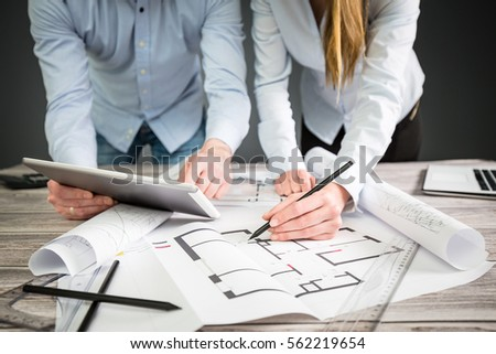 Interior Design Designer Planning Architecture Drawing Architect Business Plan Construction Sketch Concept House Illustration Creative