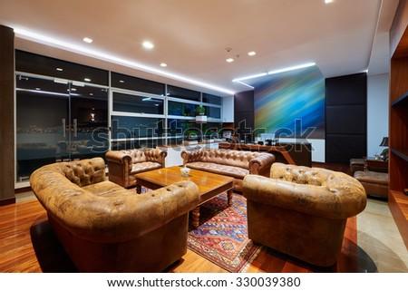 Interior Design: Luxurious and elegant office - stock photo