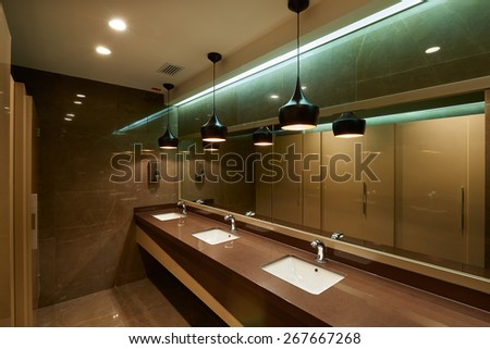 Interior design: Modern Bathroom - stock photo