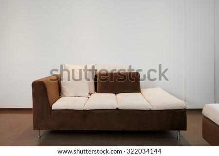 Interior design: Modern couch - stock photo