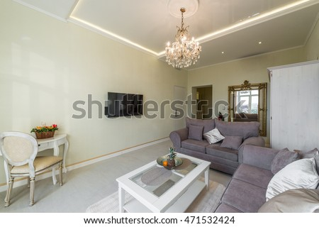 Interior design of luxury living room