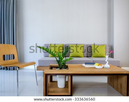 Interior design of modern Living room/ home improvement   & decoration concept - stock photo