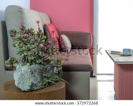 Interior design of   modern Living room/  still life & redecoration conceptual - stock photo