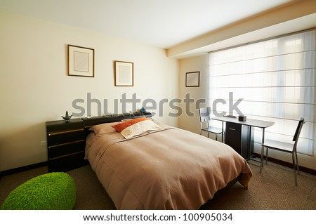 Interior design series: Bedroom - stock photo