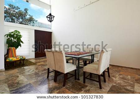 Interior design series: Modern Dining room - stock photo