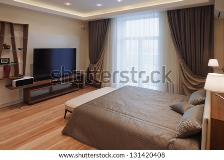 Interior design series of nice cozy bedroom - stock photo