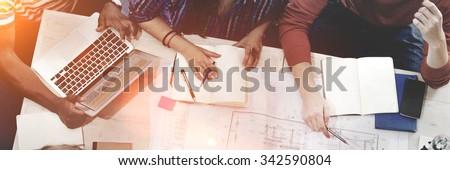 Interior Design Team Meeting Brainstorming Concept - stock photo
