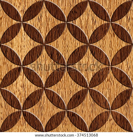 Abstract Wooden Paneling Pattern Seamless Background Stock