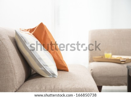 Interior design with couch, - stock photo