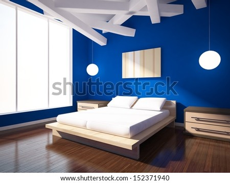 interior design with window - stock photo