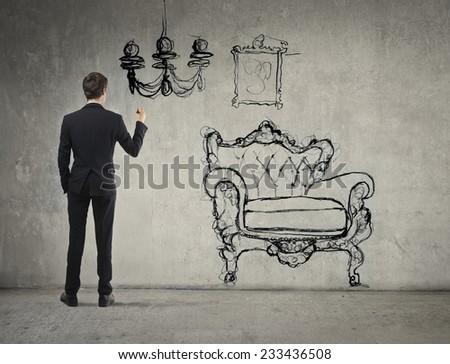 Interior designer  - stock photo