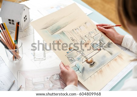 Interior Designers Drawings interior designer stock images, royalty-free images & vectors