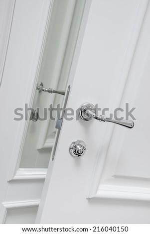 interior door handle - stock photo