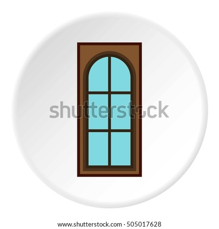 Interior door icon. Flat illustration of interior door  icon for web