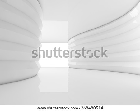 interior empty 3D rendering - stock photo
