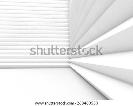 interior empty 3D rendering - stock photo