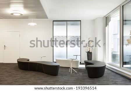 Interior, empty hall in modern building  - stock photo