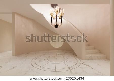 Interior entrance modern house - stock photo