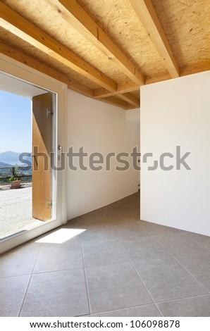 interior home, entry door - stock photo
