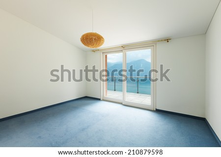 Interior, house, empty room with window