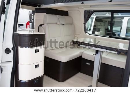 Interior Inside The Luxury Camper Van Travel Trailer