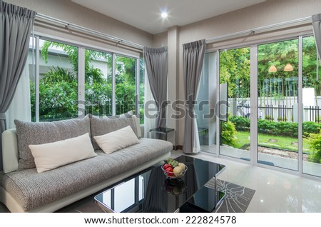 Interior living room - stock photo