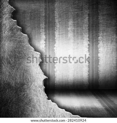 Interior metal striped background - stock photo