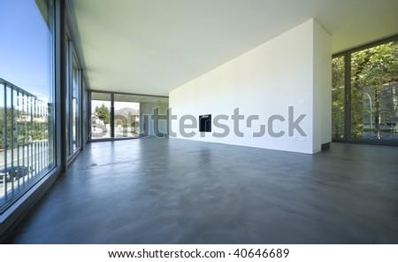 interior modern house - stock photo