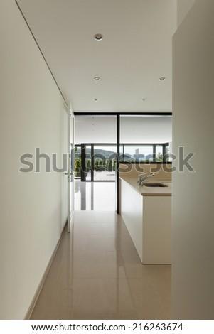Interior modern house, kitchen view - stock photo