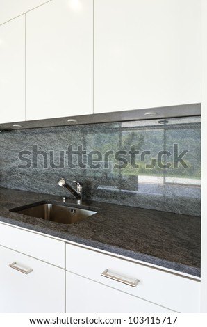 interior modern house , view of the kitchen