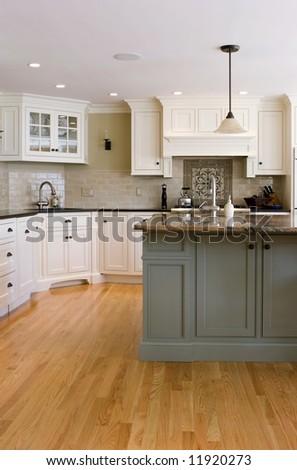 interior modern kitchen - stock photo