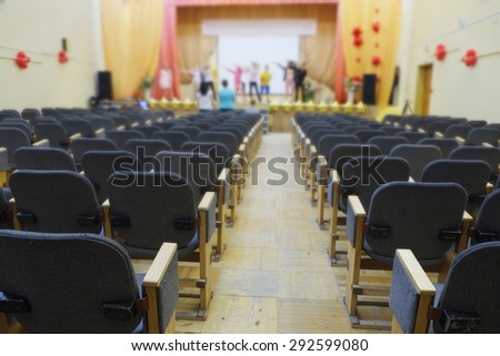 Interior of a auditorium