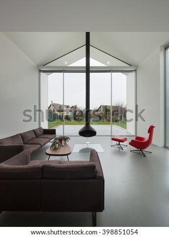 Interior of a beautiful modern house, living room