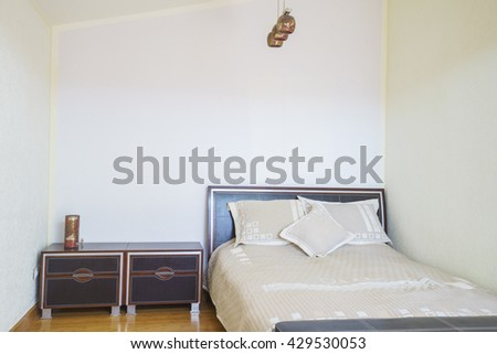 Interior of a bedroom in a guest house