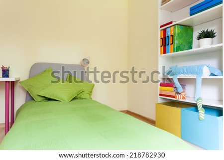 Interior of a bright modern children bedroom - stock photo