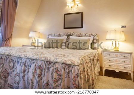 Interior of a classic style bedroom