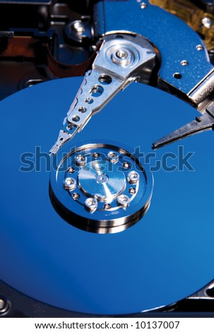Interior of a computer hard drive