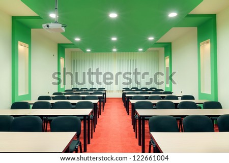 Interior of a conference room, simple and modern style. - stock photo